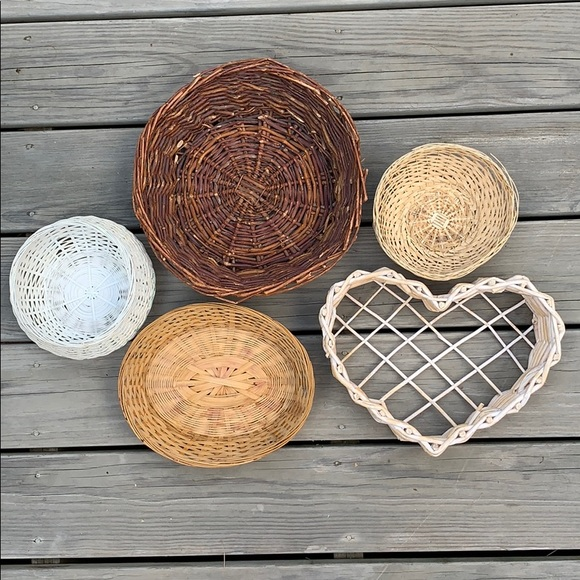 Vintage Other - FINAL PRICE❤️Boho Wicker Basket Wall Decor 🌹